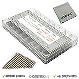 ACENIX Lot de 360 barrettes à ressort avec chiffon de nettoyage 8-25 mm