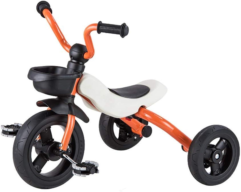 Yuany Dreirad, Zusammenklappbares Kinder-2-in-1-Dreirad, 2-6 Jahre altes Baby-Dreirad, 4 Farben, 53x63x45 cm (Farbe  Orange)
