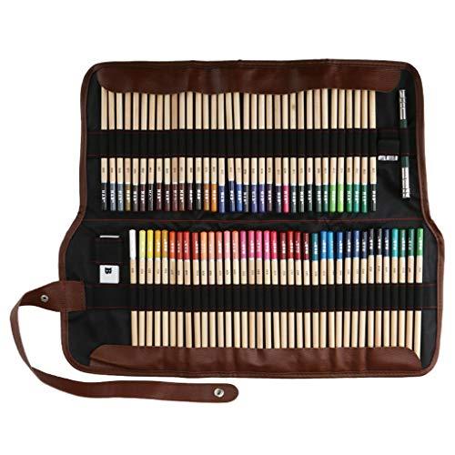 GaLon 72-kleuren log kleur potlood gordijn set, kleur lood vullen kleuren drievoudig gordijn schilderij set professionele kunst briefpapier voor kinderen en volwassenen perfect cadeau (Editie : 1)