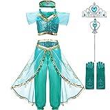 2020 película Aladdin disfraz Jasmine Princess Cosplay disfraz mujeres adultas niñas vestidos de...