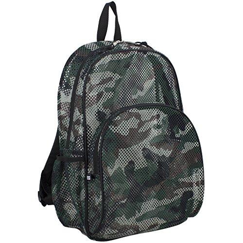 Eastsport Mesh Backpack With Adjustable Padded Shoulder Straps, Printed Camo