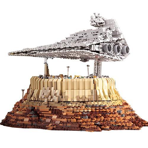 NIKRVE Bloque De Construcción Brick Star Plan Toys Destroyer Cruise Ship The Empire Over Jedha City Model Sets Juguetes para Niños Regalos