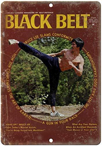niet zwarte riem zelfverdediging judo tin muur teken metalen retro poster ijzer waarschuwingsborden vintage opknoping kunst plaque werf tuin café bar pub openbaar cadeau 8x12 inch