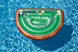 Swimline Blackjack Table Game with Waterproof Cards Pool Inflatable Ride-On, Green