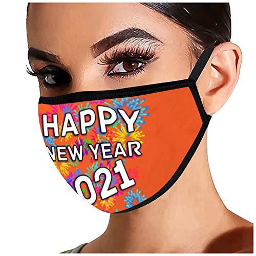 LANJIA Protective Face Mund 2021 Happy New Years Adult Fashion Waschbar Wiederverwendbare C0ver Face ṁɑşḱs