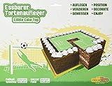 Tortenaufleger Fußballfeld HOCHWERTIG Tortendeko von DEKOBACK 1er Pack (1x 20 g Karton)