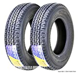 Set 2 FREE COUNTRY Premium Trailer Tires ST175/80R13 8PR Load Range D w/Scuff Guard