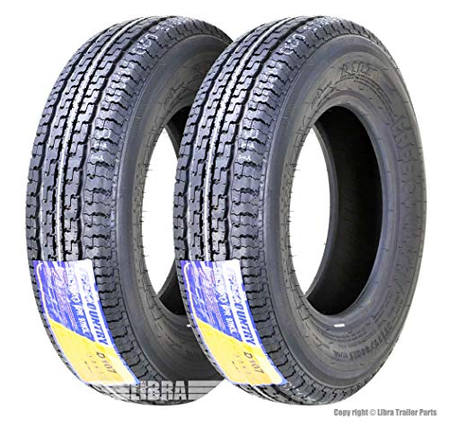 Set 2 FREE COUNTRY Premium Trailer Tires ST175/80R13 8PR Load Range D w/Scuff Guard