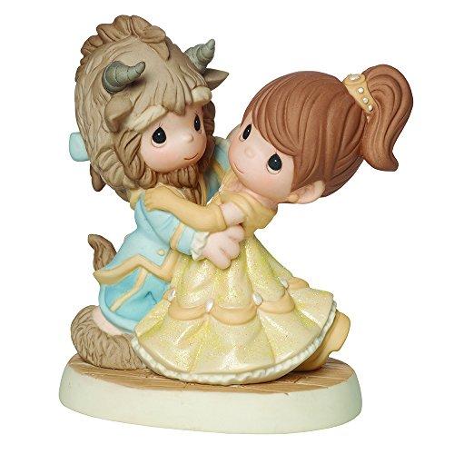 Precious Moments Coleção Disney Showcase, You Are My Fairy Tale Come True, Beauty And The Beast, Estatueta de Porcelana Bisque, 161013