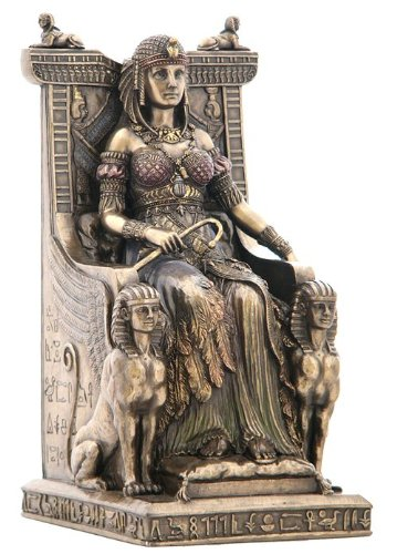 Unicorn Studios wu75637V4Reina egipcio sentado en el trono Estatua