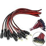 BKAUK - Cable hembra para cámara de circuito cerrado (12 V, 5,5 x 2,1 mm)