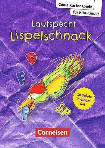 Coole Kartenspiele für Kita-Kinder / Lautspecht Lispelschnack: 10 Spiele in einem Set. Bildkarten mit Begleitheft