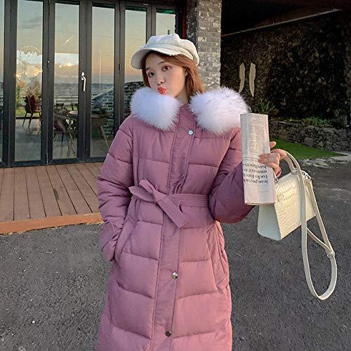 WFSDKN donsjas winterjas dames mantel met veters, modieus, voor dames, parka, warm, casual, lange maat, jas parka