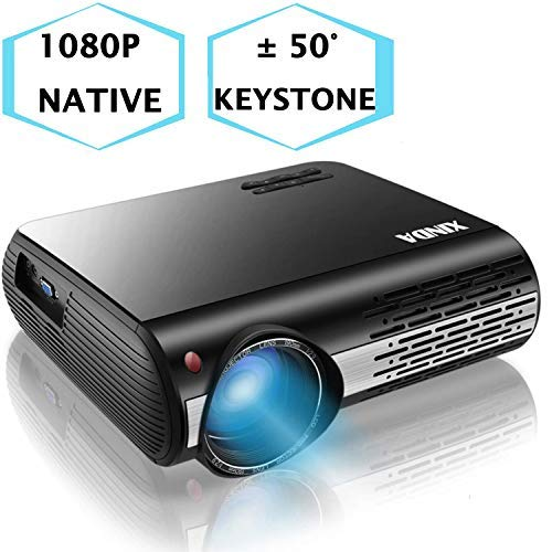 1080P Projector,XINDA 6600 Lux Outdoor projector with 327