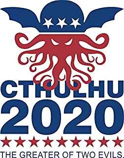 LA STICKERS Vote Cthulhu 2020 - Sticker Graphic - Auto, Wall, Laptop, Cell, Truck Sticker for Windows, Cars, Trucks