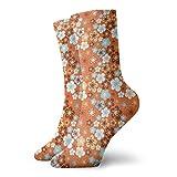 Calcetines de compresión para mujer y hombre, diseño de flora floreciente prado en verano, ideales para circulación, médico, correr