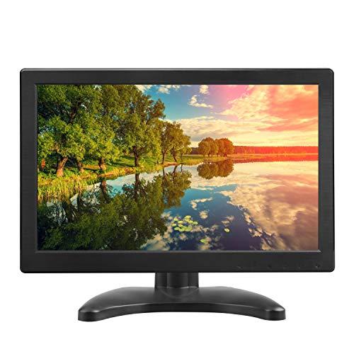 TOGUARD 12 Zoll TFT LCD Monitor HD 1366x768 Farbdisplay mit HDMI VGA MIC Port für Laptop Raspberry PC Monitor 160 Grad Blickwinkel Dual-Lautsprecher