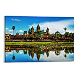 GFDSG Kambodscha Beautiful Angkor Wat Poster auf Leinwand,