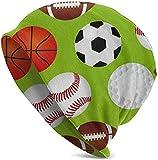 setyserytu Berretti/Cappellino Teschio, Sports Balls Classic Unisex Winter Warm Knitting Hats Beanie Hats Skull cap Black