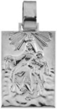 Sterling Silver Our Lady of Mount Carmel Medal (19.4x14 MM)