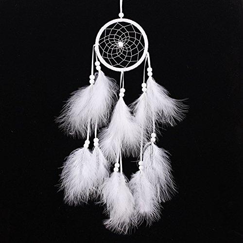 Atrapasueños pequeño hecho a mano de Bikitique, diseño tradicional atrapasueños estilo pluma para coche/decoración para colgar en la pared