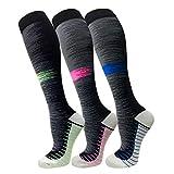 3 Pack Copper Compression Socks - Compression Socks Women & Men Circulation - Best for...
