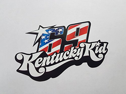 Nicky Hayden 69 Kentucky Kid Motogp Weltmeister Aufkleber Sticker Decal Logo Auto Bike Car Helm
