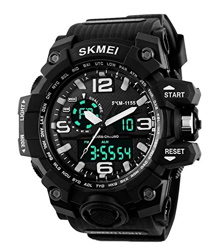 Arkhasa Skmi1155 Analog Digital Multi Function Watch for Men Black