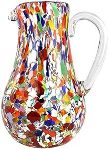 Jarra Policromada - Manchas de Venecia - Original Cristal de Murano OMG