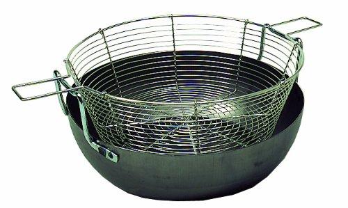Bassine professionnelle à friture bombée/ friteuse compléte - Contenance 6 L