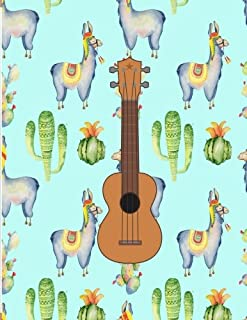 Llama Ukulele chord and String Compose Music Notebook: Ukulele tabs (short for tablature) are intended for composing ukulele music. They have four ... and space for a title.8,5