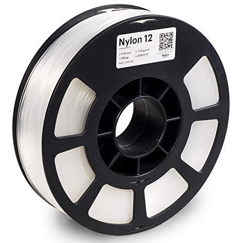 KODAK 3D printer filament NYLON 12 NATURAL color, +/- 0.03 mm, 750g (1.6lbs) Spool, 1.75 mm. Lowest moisture premium filament in Vacuum Sealed Aluminum Ziploc bag. Fit Most FDM Printers