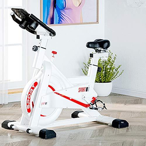 Fitness Cyclette Bike Magnetica Freno a Frizione Micro Regolazione di Sellino E Manubrio, Attrezzatura per L'allenamento di Allenamento Comoda Sella per Cuscino