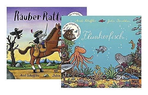 Beltz & Gelberg Räuber Ratte + Flunkerfisch: Vierfarbiges Pappbilderbuch-Set