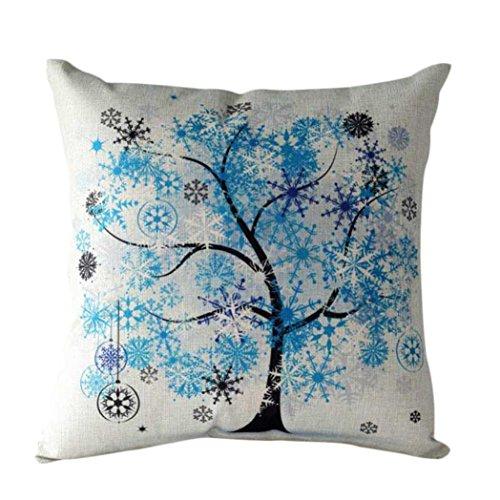 Sannysis fodere per cuscini federa vintage di cotone stampato floreale divano(blue)