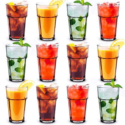 RB Bicchieri Impilabili Plastica Premium Infrangibile Riutilizzabile 25cl, Set di 12