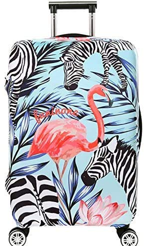 Suitcase Cover Animal Zebra Travel Luggage Cover Suitcase Protector Fits for 26-28 Inch Luggage (L) Flamingo Luggage Trolley Case Protective Cover