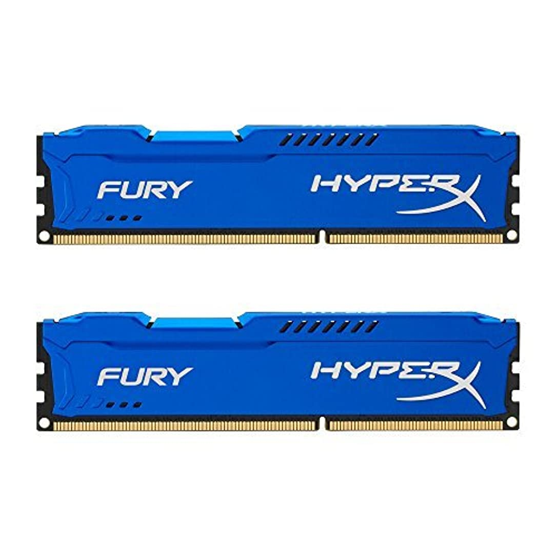 中傷子豚挑むKingston HyperX FURY 16GB Kit (2x8GB) 1866MHz DDR3 CL10 DIMM - Blue (HX318C10FK2/16), (Pack of 2) [並行輸入品]
