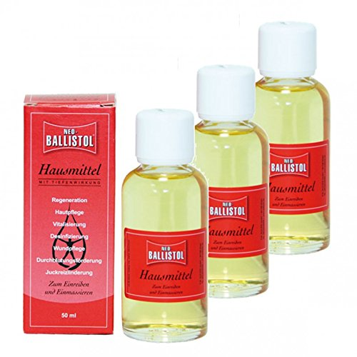 BALLISTOL NEO-BALLISTOL 3 Flaschen a 50 ml Hausmittel Hautpflege Pflegeöl 26230