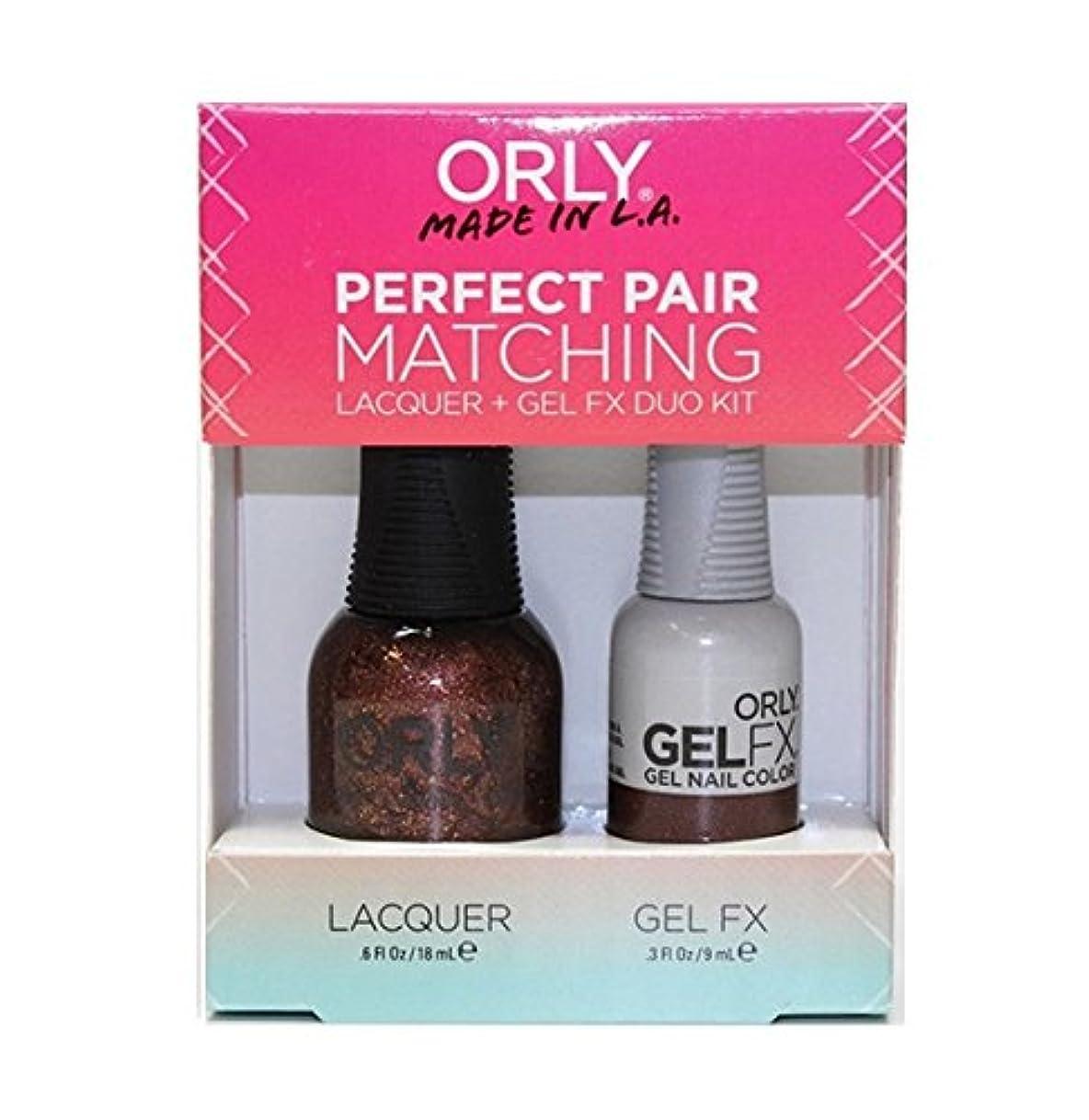 勧めるつなぐスティックOrly - Perfect Pair Matching Lacquer+Gel FX Kit - Meet Me At Mulholland - 0.6 oz / 0.3 oz