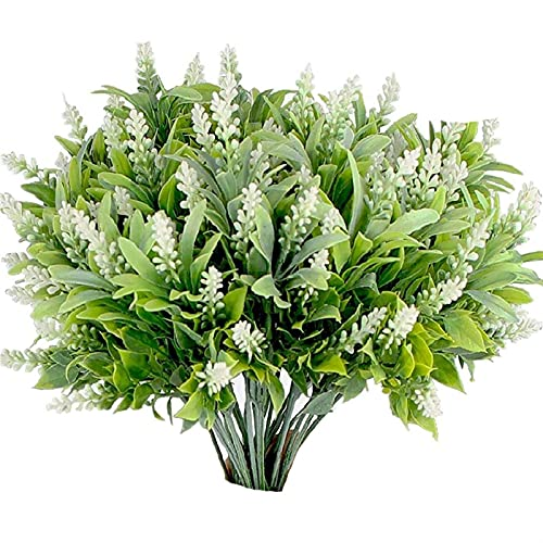 Buiten decoratieve planten 6 stks nep groene struik nep planten outdoor plastic nep bloemen outdoor tuin terras…