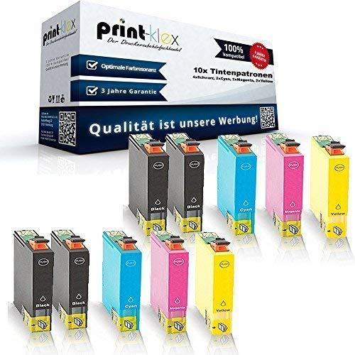 10x Kompatible Tintenpatronen für Epson Stylus SX525WD SX535WD SX620FW T1291 T1292 T1293 T1294-4x Black 2x Cyan 2x Magenta 2x Yellow