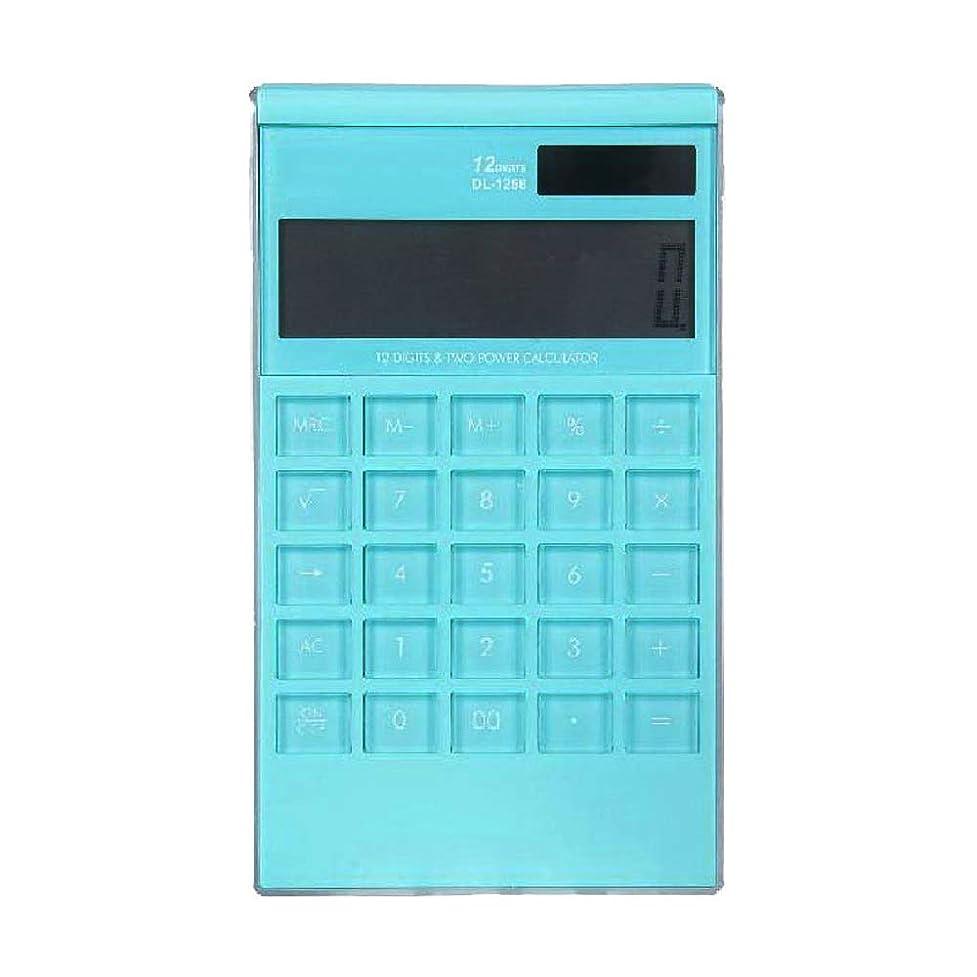 クック朝床JIANGXIUQIN 電卓 関数電卓 学生特有多機能コンピューター 毎日の基本的なオフィスデスクトップ電卓オフィスに ブルー JIANGXIUQIN