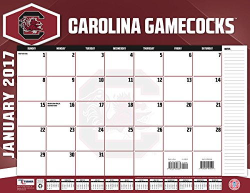 "Turner Licensing Sport 2017 South Carolina Gamecocks Desk Pad Calendar, 22""X17"" (17998061488)"
