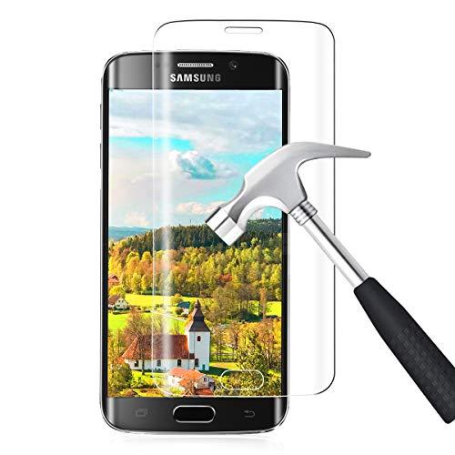 Panzerglas für Samsung Galaxy S6 Edge Schutzfolie 9H Härte 3D Curved Panzerglasfolie Samsung S6 Edge Folie Anti-Kratzer/Bläschen/Fingerabdruck Staub Displayschutzfolie für S6 Edge Einfache Montage