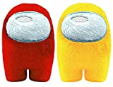 Among in Us Game Plush Toys | Soft Stuffed Animals Imposter Plush Squeak Plushie Figure 3.9inch (Red Yellow)