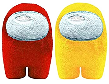 Among in Us Game Plush Toys | Soft Stuffed Animals Imposter Plush Squeak Plushie Figure 3.9inch  Red Yellow
