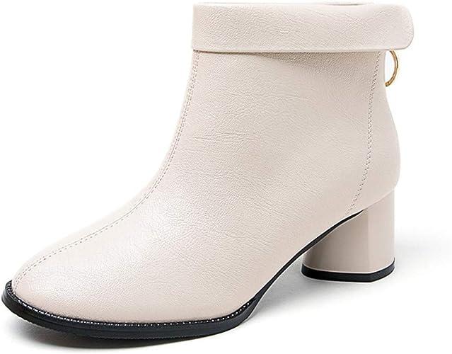 SARA Rain botteswinter Nouvelle élégante Haute épais avec Fermeture à glissière arrière Anneau Strass Bottes Courtes Chaussures Femmes