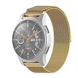 Reemplazo de Acero Inoxidable Reloj de la Correa Reemplazo del Reloj por el Honor Reloj Magic 2 / Galaxy Activo 2 Milan Acero Inoxidable de Malla Correa 18MM (Negro) (Color : Gold)