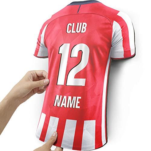 Elbeffekt Lampara de Camiseta para los Fans del Madrileno Hecha de Madera - Regalo Personalizable - Regale su articulo Individual para Fans del Madrileno Hecho de Madera Real